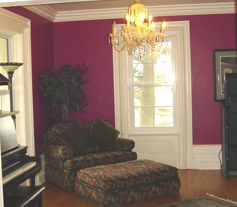 Stunning Original Trim in Library/Family Room