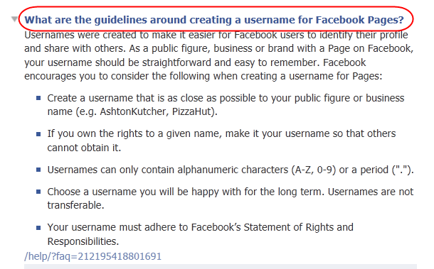 how to change a facebook page name and url