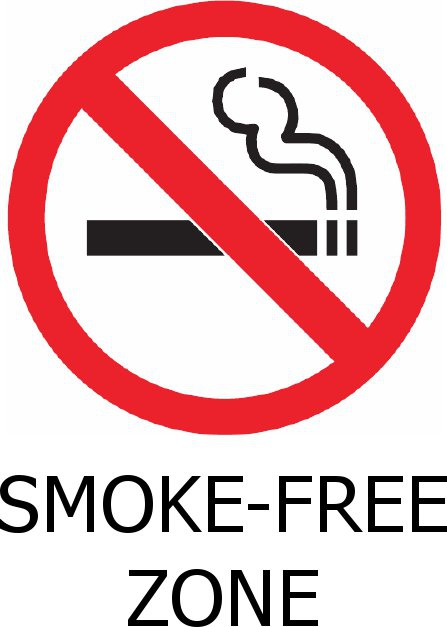 smoke free zone, red circle, cirgarette with x through it
