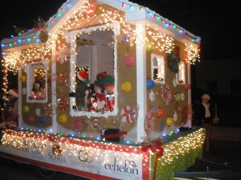 Schell Brothers' Float at the Holiday Parades