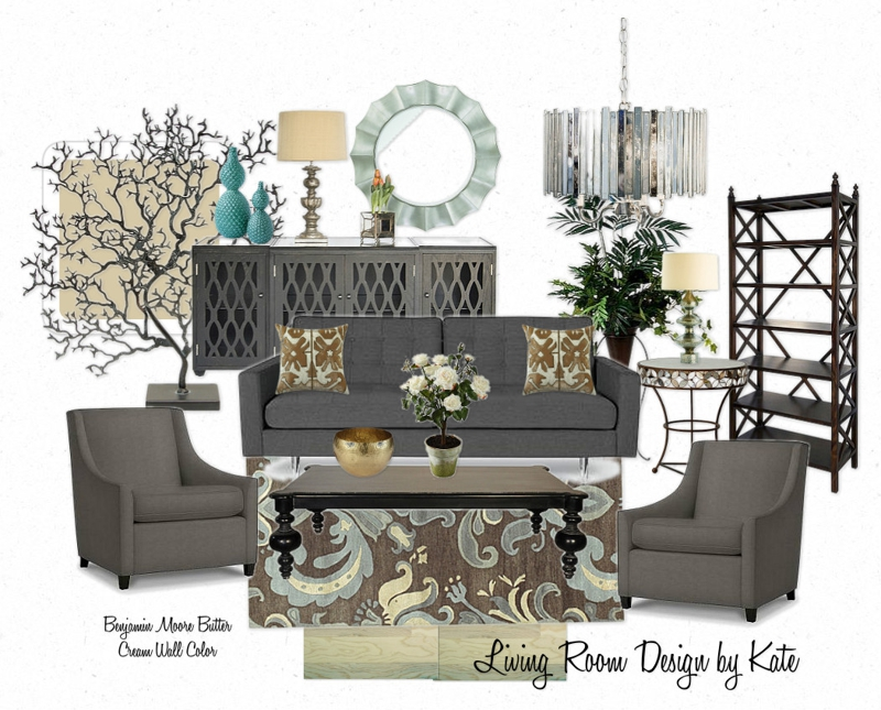 orange county design living room update shades of gray