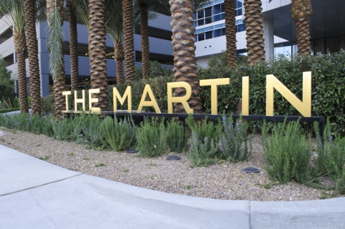 The Martin High Rise Las Vegas Front Signage