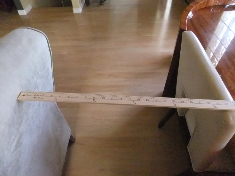 Living room yardstick