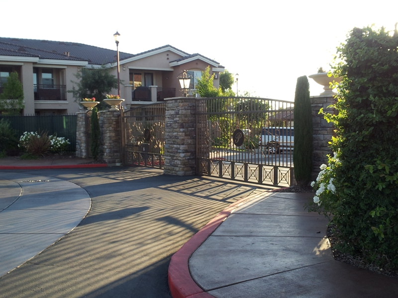 Gated Entrance to The Phoenician Condos in Roseville, CA