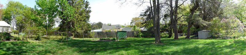 1413 F Backyard Panorama