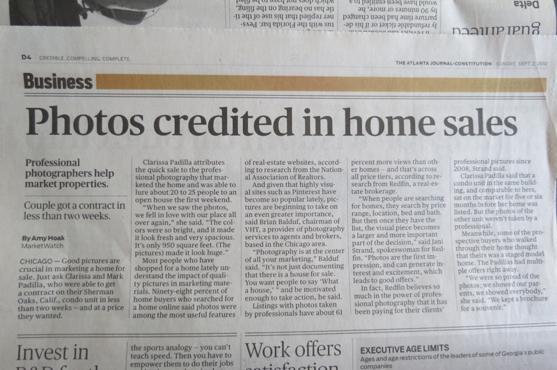 Article about using pictures in home sales