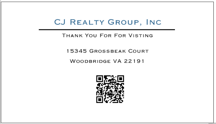 Front Of Property Card