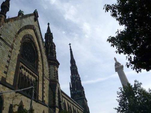 Church and Washington Monument