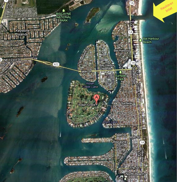 Indian Creek Island on Biscayn Bay in Miami, Miami Beach South Florida