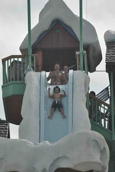 worst position for water park ride at Blizzard Beach