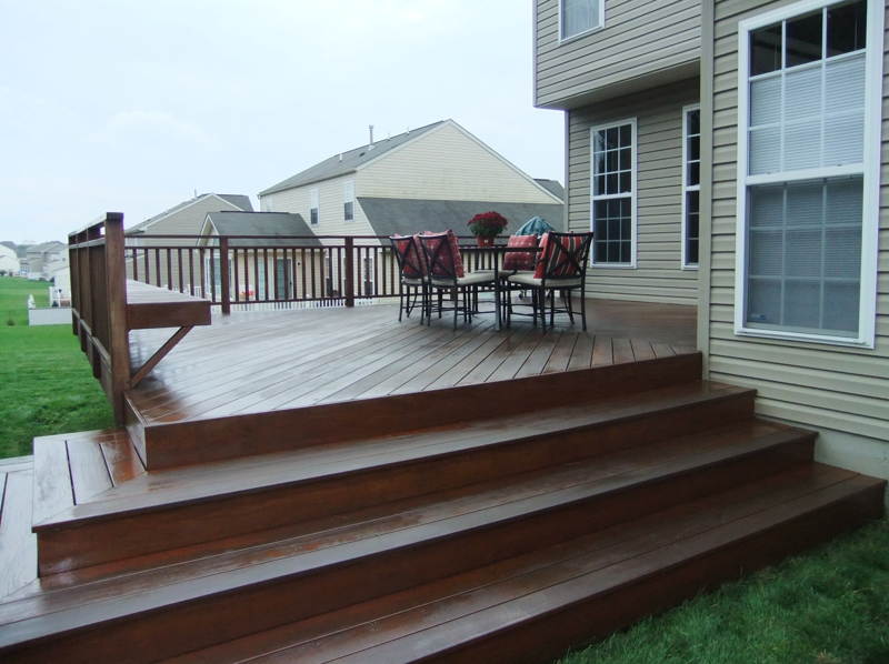 Deck made of Ipe Brazilian Hardwood