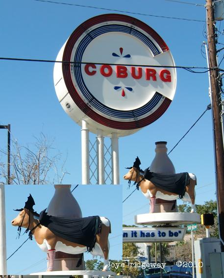 The Coburg Cow at Halloween - Charleston, SC