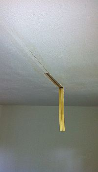 sheetrock damage from leak in ceiling