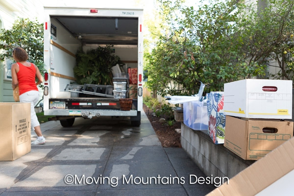 home staging accessories on the truck