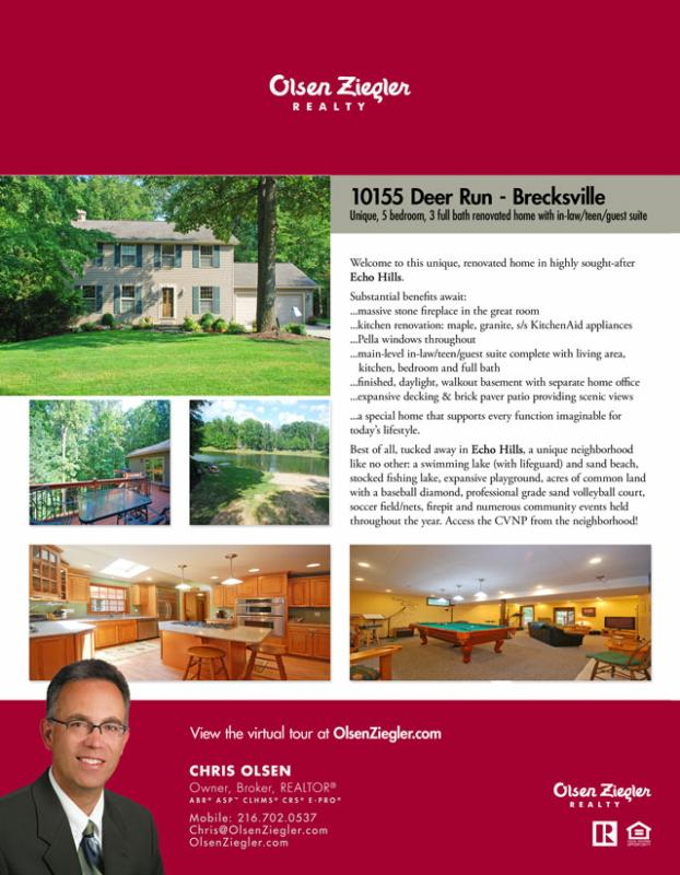 Home For Sale Flyer - 10155 Deer Run Brecksville Ohio 44141