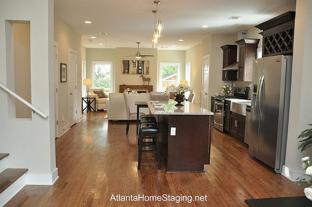Atlanta Home Stager Kitchen Living Room