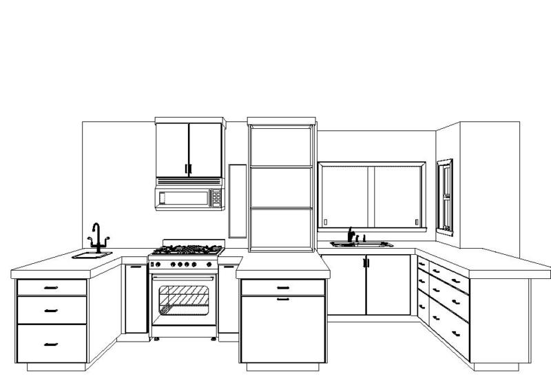 Seattle Kitchen Remodel layout