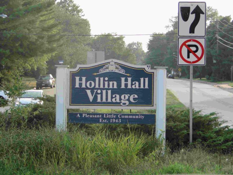 Hollin Hall Village sign