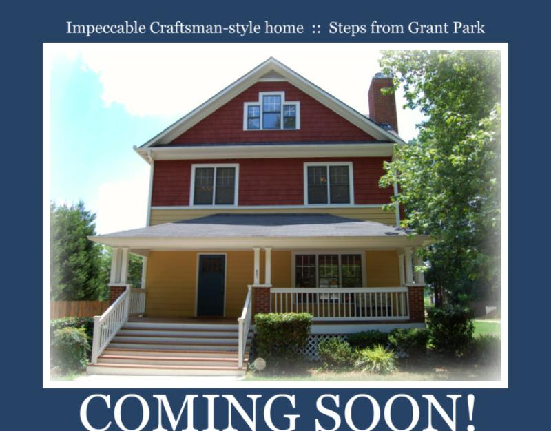 Grant park atlanta craftsman style home coming soon for Craftsman homes atlanta
