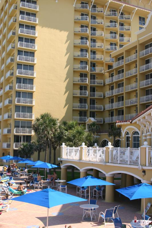 Plaza Resort, Daytona Beach. View from the Ocean