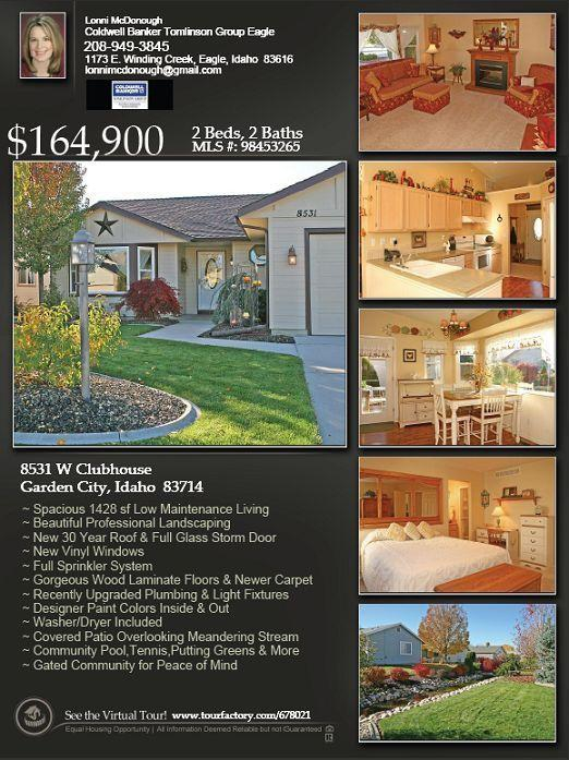 desirable 55 community in boise idaho great value model condition