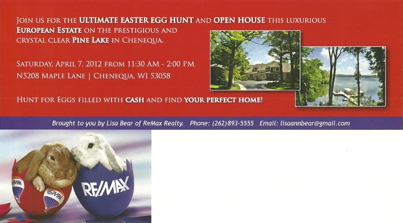 easter egg hunt, chenequa real estate, homes for sale in chenequa, Lisa Bear