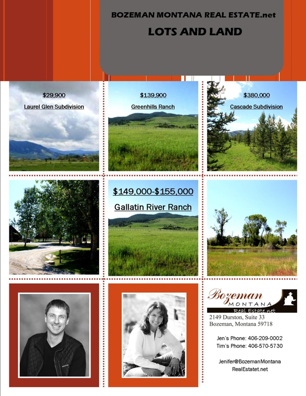 Bozeman Montana Real Estate.net Lots and Land