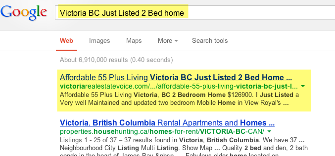 Victoria BC Just Listed 2 Bed Home