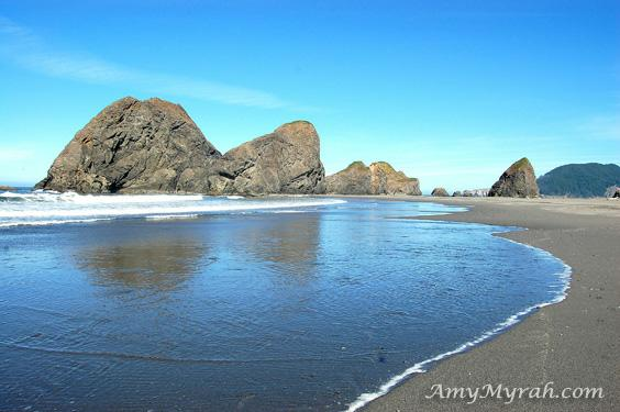 Meyers Creek Reflections - Brookings, Oregon