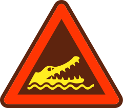 Crocodile Warning - Courtesy of Amada44 - Wikimedia Commons
