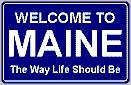 maine welcome tourism sign