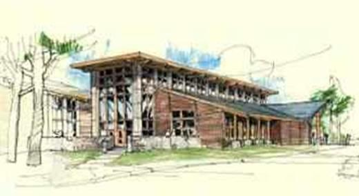 Architect's rendering of Flagstaff Aquaplex