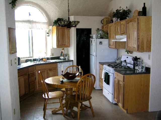 Kitchen in dome home in Taos