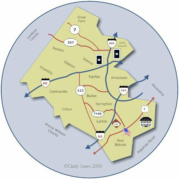 Fairfax County Map Template