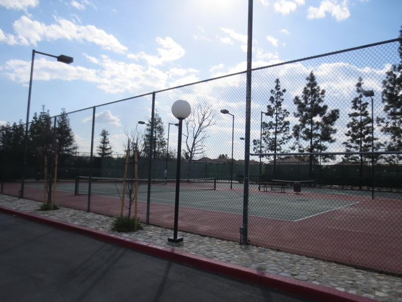Tennis Courts for the condos and townhomes at Crystal Canyon