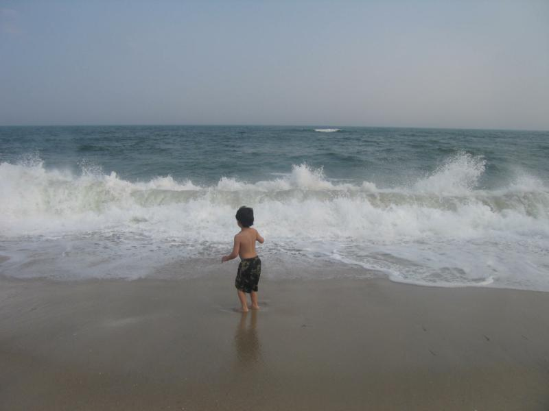 Before Long My Son And I Headed Down To The Ocean He Loves Play Along Shoreline Let Waves Crash Into Him