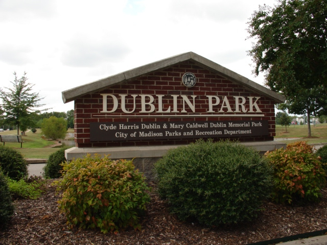 Dublin Park Madison Alabama Entrance