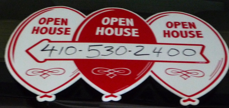 Open House Balloon Sign HomeRome Realty