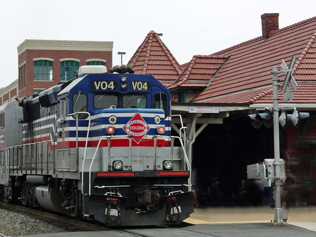 Commuter train in Manassas