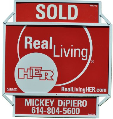 Real Estate For Sale Sign Sold mickey Dipiero