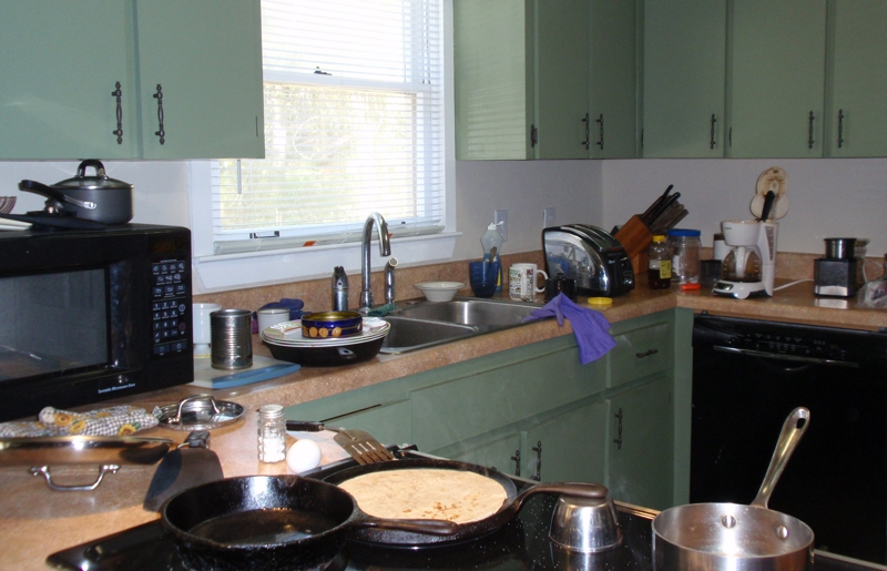 Clutter in the Kitchen for 50 Mistakes Blog