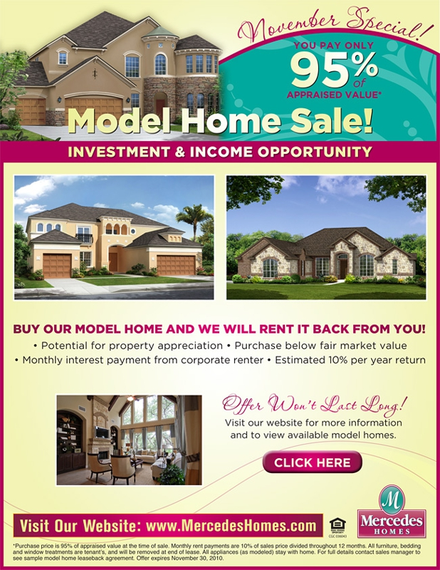 Model home investment opportunities