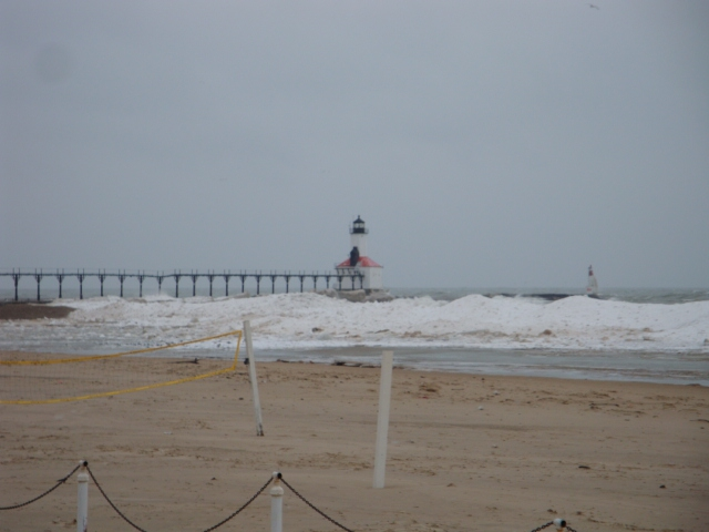 The famous Lighthouse in Michigan City, IN
