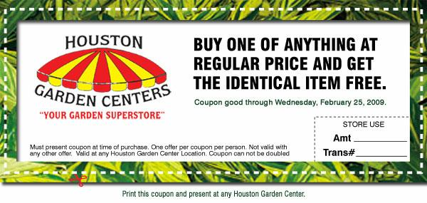 Discount coupons for sandal gardening centre