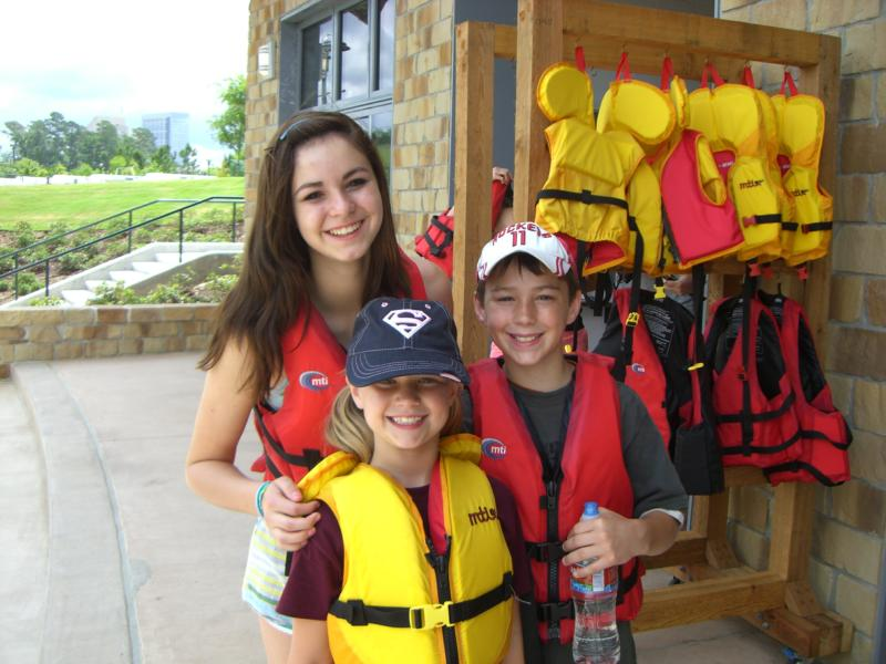 life jackets provided kayak lake woodlands