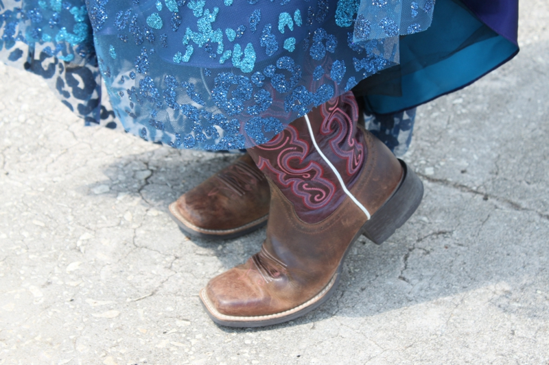 Cowgirl boots and Dresses. It's a Texas thang!