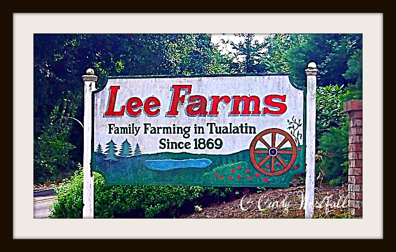 Lee Farms sign