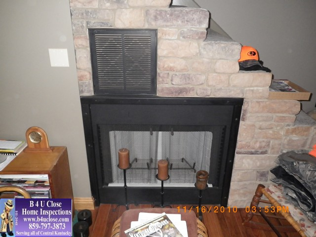 Erby The Central Kentucky Home Inspector, Lawrenceburg Kentucky Fireplace