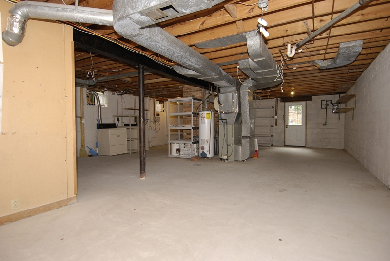 lower level unfinished basement