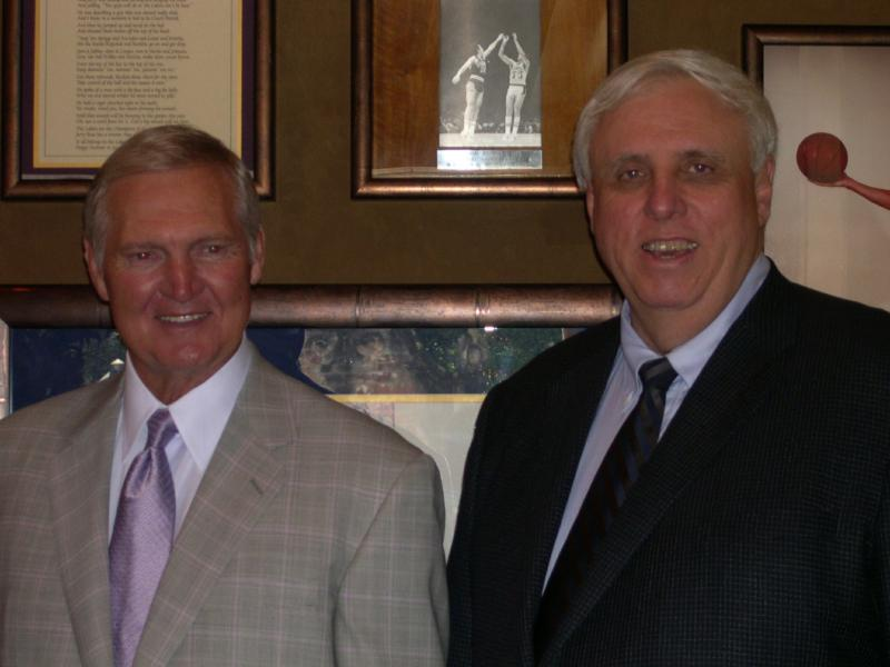 Jerry West and jim Justice